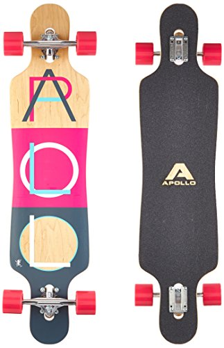 Apollo Longboard Fidji Special Edition Tabla Completa con rodamiento de Bolas High Speed ABEC Incl. Skate T-Tool, Drop Through Freeride Skate Cruiser Boards