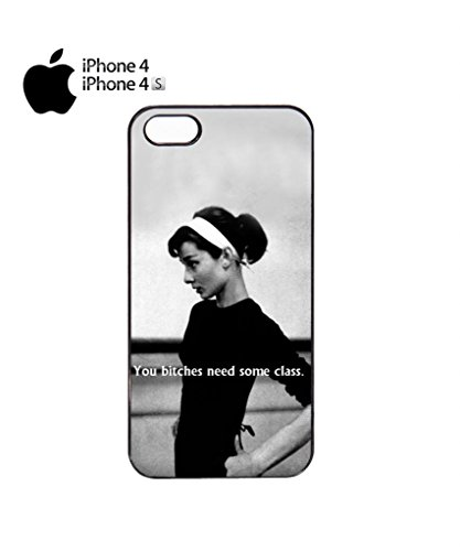 You B*tches Need Some Class Funny Hipster Swag Mobile Phone Case Back Cover Hülle Weiß Schwarz iPhone 5&5s Black Schwarz