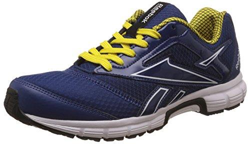 Reebok Men's Cruise Runner 2.0 Blue, Yellow, White and Black Running Shoes - 6 UK