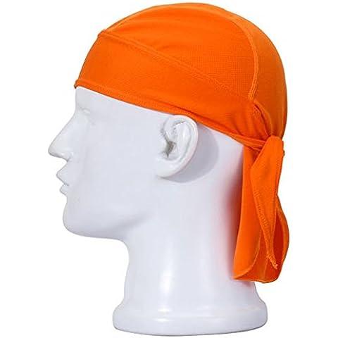 Aiyuda multiuso, asciugatura rapida, traspirante, polsini protezione per testa, ciclismo, corsa-Cappello da pirata - Arancione Pirata