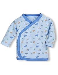 Schnizler Unisex Baby Hemd Wickelshirt, Flügelhemd, Erstlingshemd Langarm, Oeko Tex Standard 100