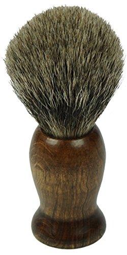 Fantasia naturels Dos de Blaireau - Blaireau purs, manche en bois hêtre, bague - Diamètre 21,5 mm