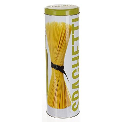 Spaghettidose, rund, Relief–Metall