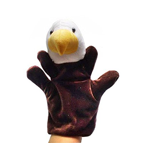 Lindo peluche marionetas de mano animales marionetas de mano, águila