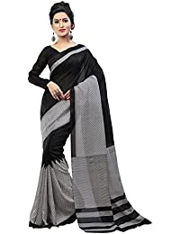 Kanchnar Women's Black And Grey Printed Bhagalpuri Silk Casual Wear Saree With Unstitched Blouse,Great Indian...