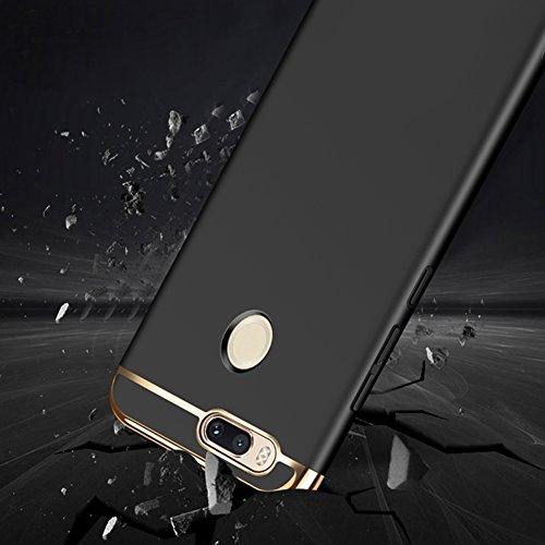 Coque Xiaomi Mi 5X, MSVII® 3-in-1 Design PC Coque Etui Housse Case et Protecteur écran Pour Xiaomi Mi 5X - Or rose JY50152 Noir