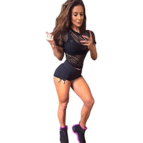 QUINTRA Frauen Sport Shorts Fitness Workout Bund Dünne Yoga Kurze Hosen (Track Pants Kalt)