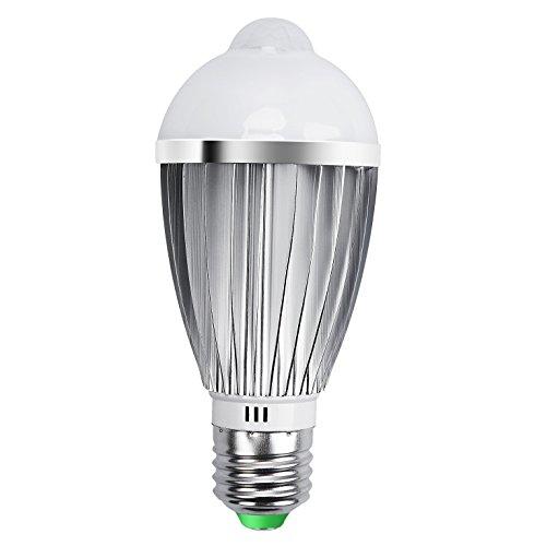LED Bulbe, QPAU Ampoule détecteur de mouvement LED 7W E27 Blanc Chaud