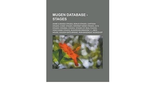 Mugen Database - Stages: Anime & Manga Stages, Bonus Stages