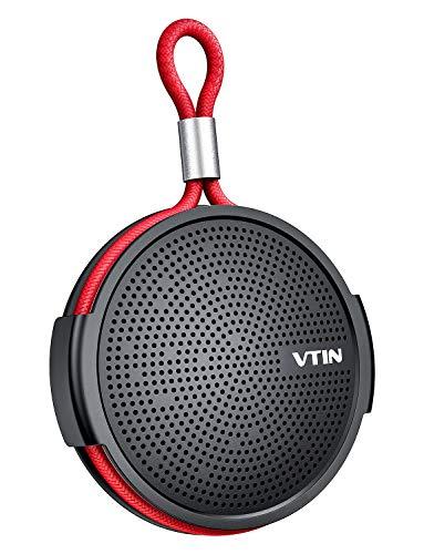 Bluetooth-Lautsprecher, VTIN tragbare Musikbox, wasserdichter IPX5-Mini-Badlautsprecher mit Saugnapf und TF-Karte, geeignet für Wandern, Tourismus, Strand, Schwimmbad usw