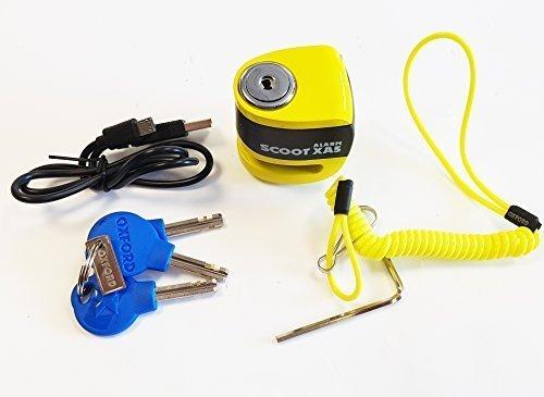 Oxford Scoot XA5 Alarm Bremsscheibenschloss (5mm Stecker) gelb