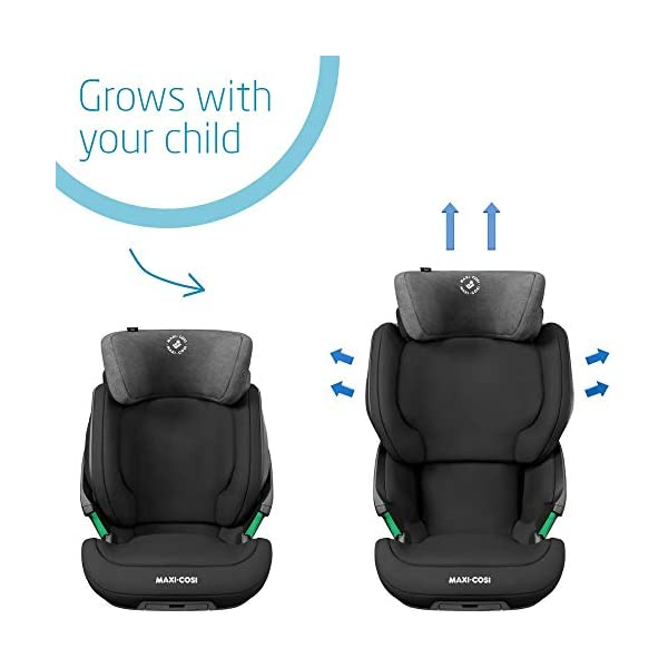 Maxi-Cosi Kore i-Size Child Car Seat, 3.5 - 12 years, 100 - 150 cm, Authentic Black Maxi-Cosi Child car seat, suitable to use from 3.5 to 12 years (approx from 100 cm to 150 cm) ISOFIX installation is possible with this group 2/3 car seat for optimal stability Quick and easy to buckle up: This ISOFIX car seat is designed to enable children to get in and out and buckle up on their own in a few seconds 3