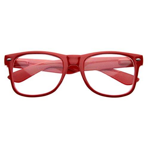 Preisvergleich Produktbild Kiss Brillen in neutralen mod. BLUES BROTHERS - optischen rahmen VINTAGE mann frau NERD cult unisex - ROT