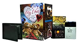 Love Gift For Mens & Boys - Love Greeting Card, Mens Wallet & Perfume
