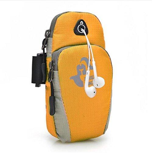Jaime Lavie Sport Braccialetto Custodia Borsa Cuffie Titolare per fino a 6pollici cellulare per iPhone 5iPhone 6Plus, Giallo 1 Orange