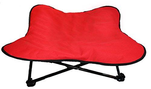 Lit pour chien de Glenndarcy surélevé, portable, pliable et rembourré - Idéal pour le camping ou...