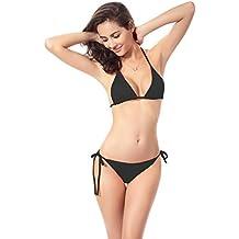 Mujer Traje, Ba Zha Hei de Baño Sin Tirantes Estampado de Lunares Push Up Bañador Bikinis Beachwear Traje de Baño de Playa Natación