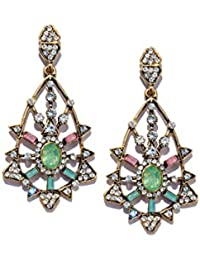Chooseberry Multicolour Stylish Crystal Earings Danglers Fancy Party Wear Earrings For Women & Girls