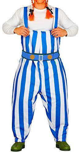 Foxxeo Lustiges Gallier Kostüm für Herren zu Karneval und Fasching Comic Römer Erwachsene Größe - Lustige Karneval Kostüm