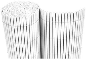 PVC Brise-Vue Balcon 160x1000 cm Blanc - Petits Tubes