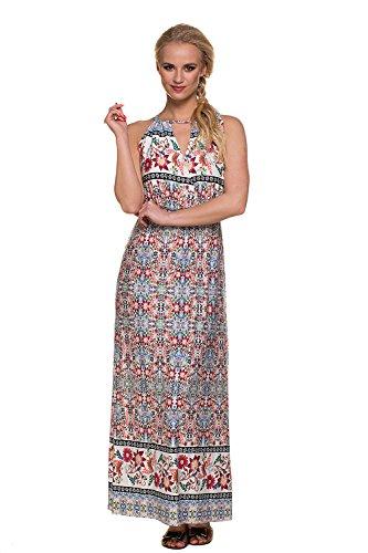 Mutterschafts Kleid Umstands Kleid Stillkleid Ivy maxi Blumen M (medium) Umstandsmode von MY TUMMY ®©™ (Runde-hals-mutterschaft-kleider)