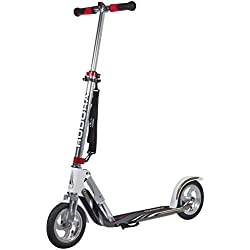 HUDORA 14005 BigWheel Air GS 205 Luftreifen Big Wheel Tret-Roller City Scooter, Silber/weiß