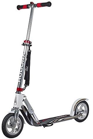 HUDORA Big Wheel Air GS 205 Luftreifen-Scooter, silber/weiß - Tret-Roller