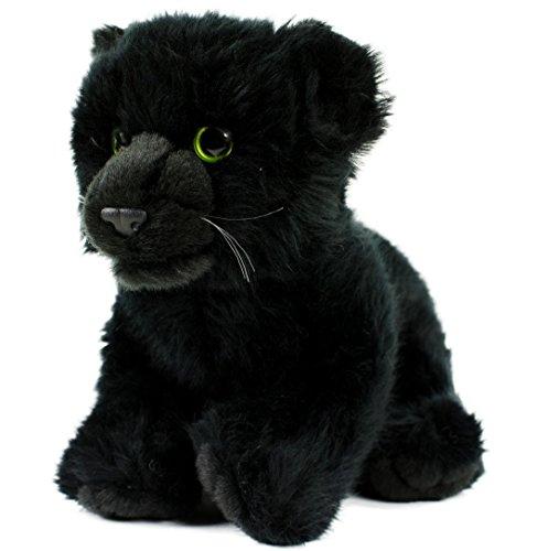 32 cm sitzend schwarz Plüschpanther Plüschtier (Jaguar Kuscheltier)