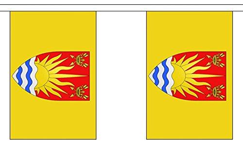 3 Meter 10 (22.86 cm x 15.24 cm) Flagge Suffolk County 100% Polyester ideale Party Deko Wimpelkette für Street House Schulen, Kneipen und Clubs -