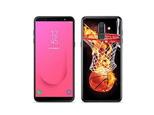 etuo Handyhülle für Samsung Galaxy J8 - Hülle Foto Case - Zeit für Basketball - Handyhülle Schutzhülle Etui Case Cover Tasche für Handy (Foto-basketball)