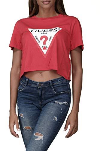 Guess Damen T-Shirt Gr. L, rot