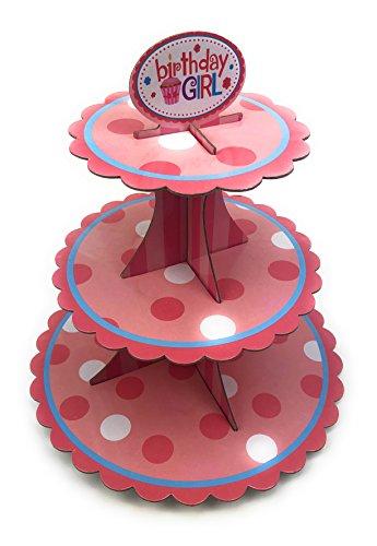 Muffinständer für Jede Gelegenheit Schöne Farben (Rosa) ()
