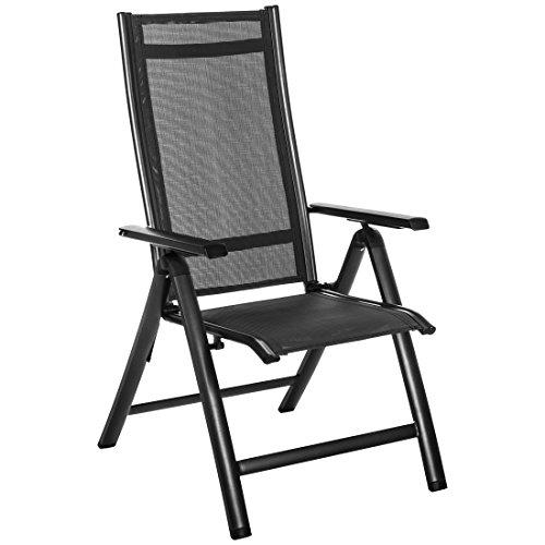 Ultranatura korfu plus sedia in alluminio con bracciolo, anthracite, 92x60x17.5 cm