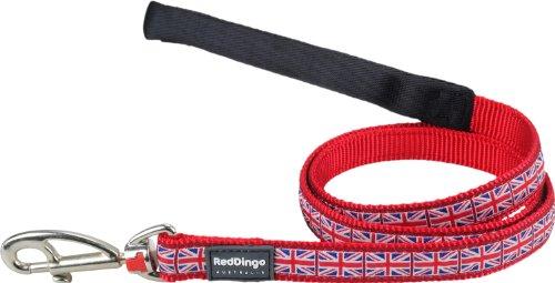 Red Dingo Hundeleine, Design britische Flagge Union Jack,15mmx1,2m, Größe S -