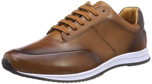 Boss Herren Legacy_Runn_Burs Sneaker, Braun (Medium Brown 210), 42 - Braun Hugo Boss Leder