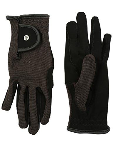 RTS Damen REIT Handschuhe Schwarz L