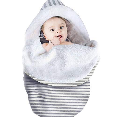 Blue-Yan Abrigo de la Manta de Swaddle del bebé recién Nacido, Saco de Dormir de la jerarquía del sueño algodón Super Suave