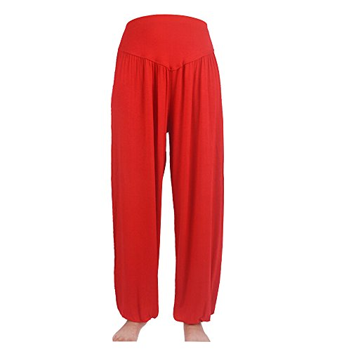 Sanwood - Pantalon de sport - Femme noir vert fluorescent taille unique red
