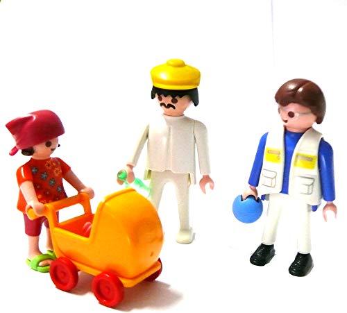 Playmobil ® Mutter Vater Kind und Puppenwagen mit Puppe