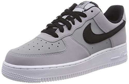 Nike Herren Air Force 1 '07 Lthr Hallenschuhe, Grau (Wolf Grey/Black/White 003), 46 EU (Schuhe Air Force Männer Nike)
