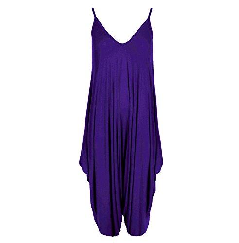 MIXLOT nouvelles dames cami lagenlook barboteuse baggy harem combinaison combishort robe purple