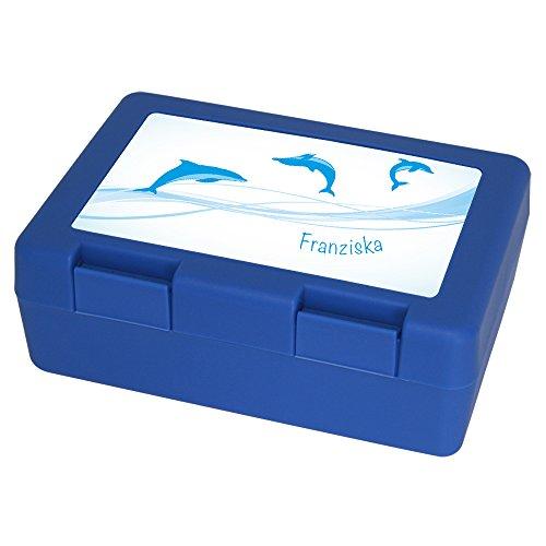Brotdose mit Namen Franziska und schönem Delfin-Motiv für Mädchen - Brotbox - Vesperdose - Vesperbox - Brotzeitdose mit Vornamen 10