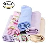 Asciugamani super morbidi per bambini, 8 pezzi, in cotone assorbente, asciugamano da bagno per allattamento, doccia, salviette per bambini e neonati.