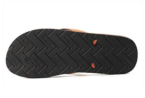 ALUK- Sommer Sandalen - Herren Hausschuhe Hausschuhe mit Europa und die Vereinigten Staaten Trend der Strand Schuhe ( Farbe : Gray , größe : 40 ) Gray