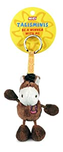 Nici Talisminis 33685 - Llavero con caballo de peluche, 7 cm, color marrón