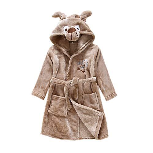 DarkCom Unisex Kinder Bademantel mit Kapuze Cosplay Kostüme Tiere Ankleiden Robe Für Mädchen und Jungen (140 (Suggest Höhe: 130 CM-140 cm), Hund) -
