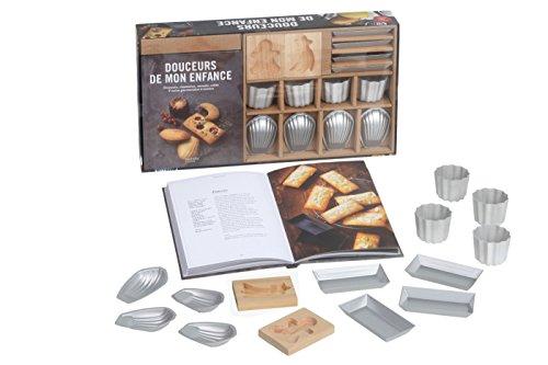 Coffret Douceurs de mon enfance: Financiers, madeleines, cannelés, sablés & autres gourmandises à cuisiner par