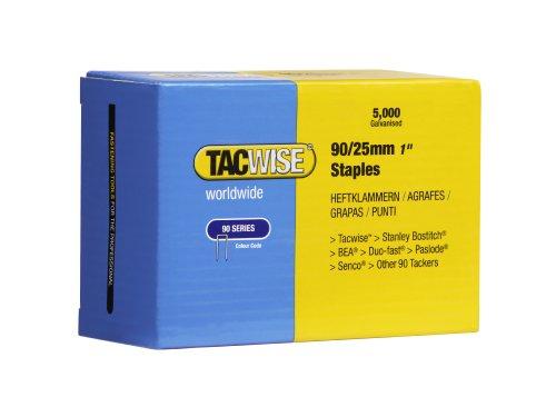 Tacwise 0308 Boîte de 5000 Agrafes à couronne étroite 25 mm Type 90