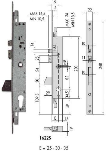 CISA 1 16225 25 0 - ELEC EMB METAL 25MM PIC+PAL+A/B IT