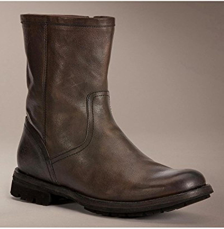FRYE Men's Phillip Lug Inside Zipper Boot Dark BRN US